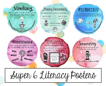Super 6 Literacy Posters