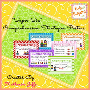 Super 6 comprehension strategy posters