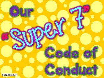"""Super 7"" Code of Conduct (Rules - Polka Dots)"