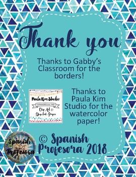 Super 7 Spanish Classroom Posters