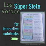 Super 7 Spanish Verbs ISN Flip-flaps {+ 2 High Frequency Verb Booklets}