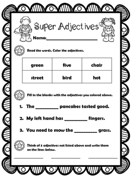Super Adjectives