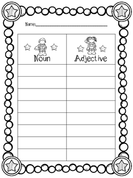 Super Adjectives Activity