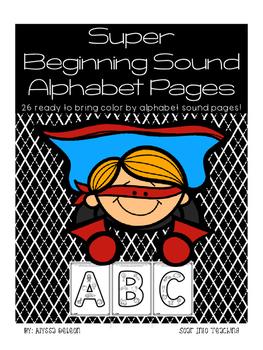 Super Alphabet Beginning Sound Pages