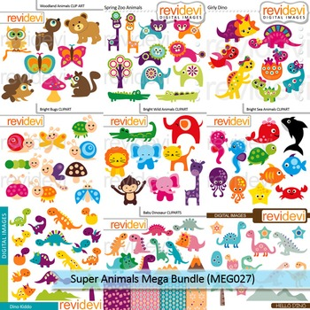Super Animals clip art mega bundle (9 packs)