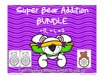 Super BUNDLE Bear Math Fact Wheels {+0, +1, +2}