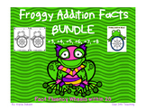 Super BUNDLE Frog Math Fact Wheels {+3, +4, +5, +6, +7, +8}