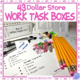 Super BUNDLE of DIY Dollar Store Vocational Work Task Boxes- 43 Activities!