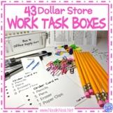 Super BUNDLE of DIY Dollar Store Vocational Work Task Boxes- 43 Activities!
