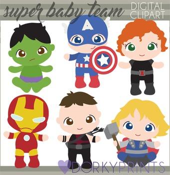 Super Baby Team Digital Clipart