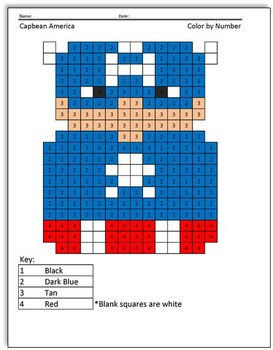 Super Bean Comics: Color by Number