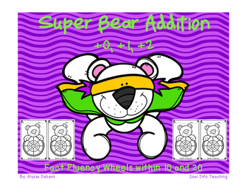 Super Bear Math Fact Wheels {+0, +1, +2}