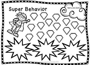 Super Behavior ~ Positive Reinforcement Charts