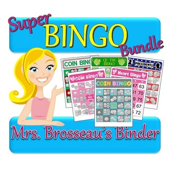 Money Math - Super Bingo Bundle - 5 Coin Counting Bingo Games + Bonus Game!