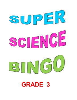 Super Science Bingo Grade 3
