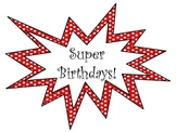 Superhero Birthday Posters and Pencil Toppers