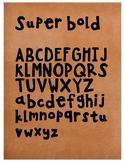 Super Bold Handwriting Font