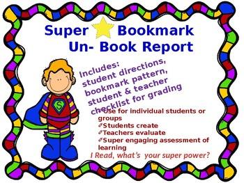 Super Bookmarks The Un Book Report