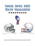 Super Bowl 2013 Challenge: Mean, Median, Mode, Range, Stem & Leaf