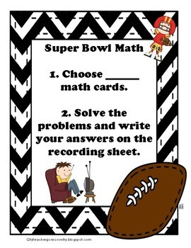 Super Bowl 2017 Word Problems - Math Center (3rd-4th grade) Print & Go!