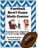 Football Bowl Game 2019 Word Problems - Math Center (3rd-4th grade) Print & Go!