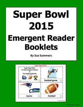 Super Bowl 2015 - 2 Emergent Reader Booklets - Football