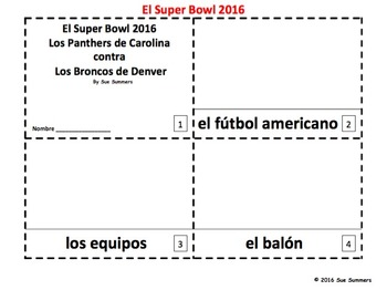 Super Bowl 2016 - 2 Booklets in Spanish