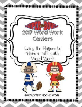 Super Bowl 2017 Word Work Centers: Using Players Numbers to have a Ball