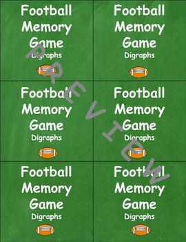 Super Bowl 2018 Common and Proper Noun Memory Game