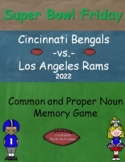 Super Bowl 2018 Common and Proper Noun Memory Game