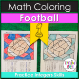 Football Integers Coloring Pages