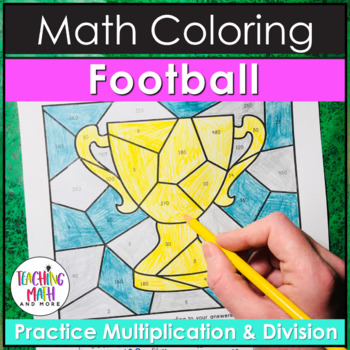 Football Multiplication & Division Coloring Pages