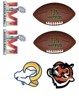 Super Bowl 2018 Logos for crafts, graphs, math,