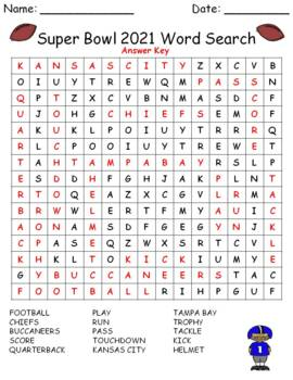 Super Bowl 2018 Word Search