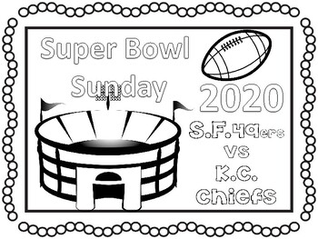 Super Bowl 2018 coloring pages and activities
