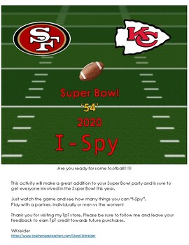 Super Bowl 2020 I-Spy