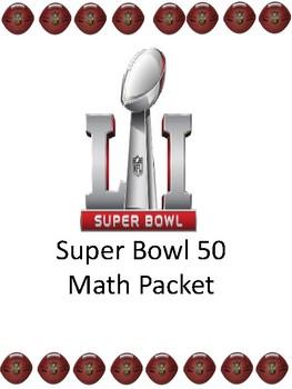 Super Bowl 51 2017 Math Packet