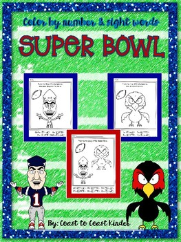 Super Bowl 50 Coloring by Words and Numbers