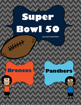 Super Bowl 50 Third Grade Graphing and Data Pack