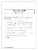 Super Bowl LIV - Middle School Math Group Project Problem Solving Football 2020