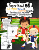 Super Bowl 54 Team Reading Passages, Response Worksheets,