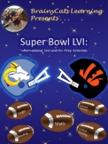 Super Bowl 2019:  Informational Text and No-Prep Reading and Math Activities