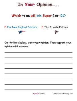 Super Bowl 51 Opinion Writing
