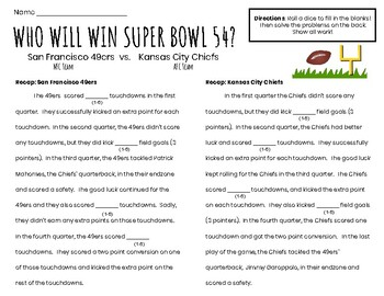 Super Bowl Math: Super Bowl 52