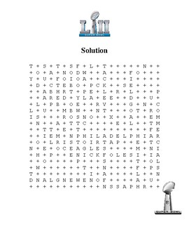 Super Bowl 52 Word Search