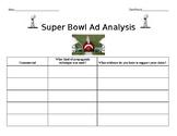 Super Bowl Ad Analysis Worksheet~ Propaganda Assessment~ Party Parent Letter