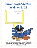 Super Bowl Addition: Addition to 12