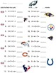 Super Bowl Addition and Subtraction Worksheets
