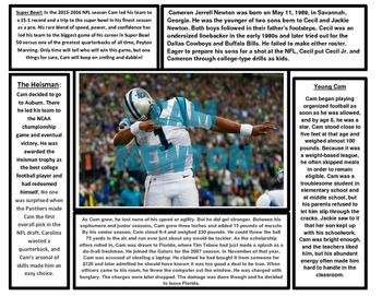 Super Bowl Articles (Cam Newton vs. Peyton Manning)