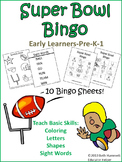 Super Bowl Bingo: Letters, Shapes, and Sight Words for Early Learners